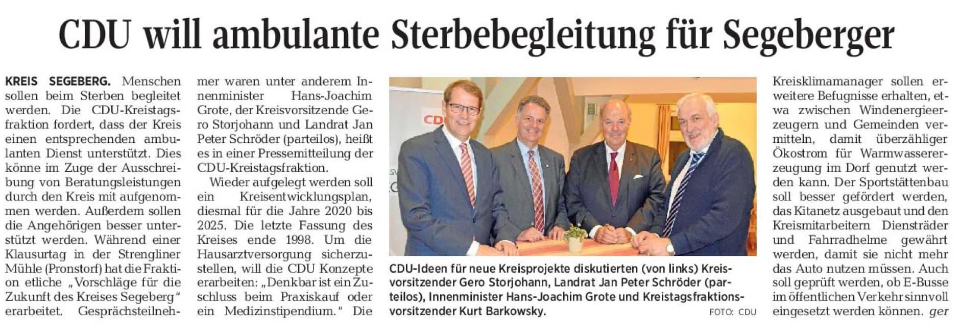 CDU - Sterbebegleitung für Segeberger