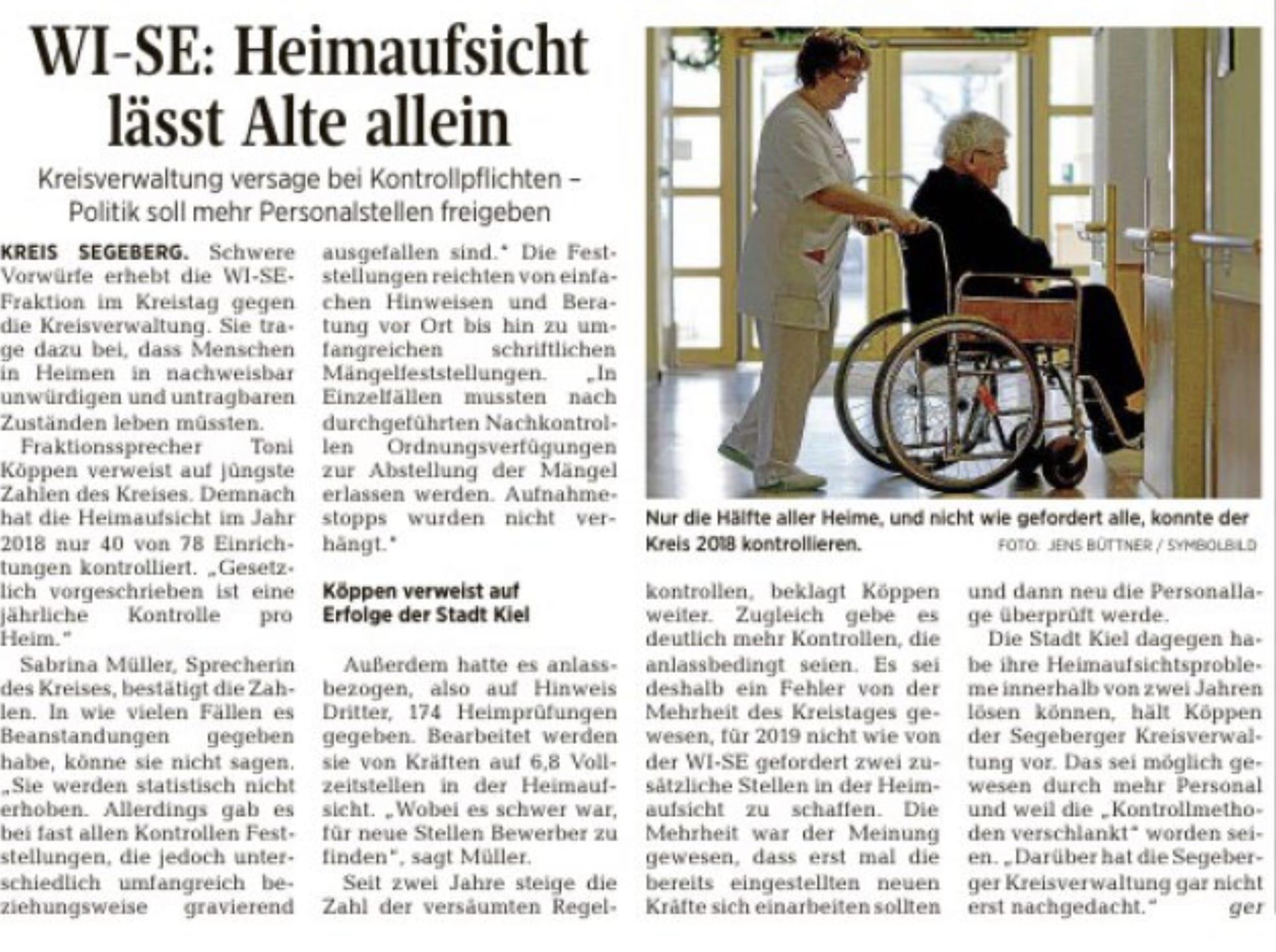 WI-SE: Heimaufsicht lässt Alte allein