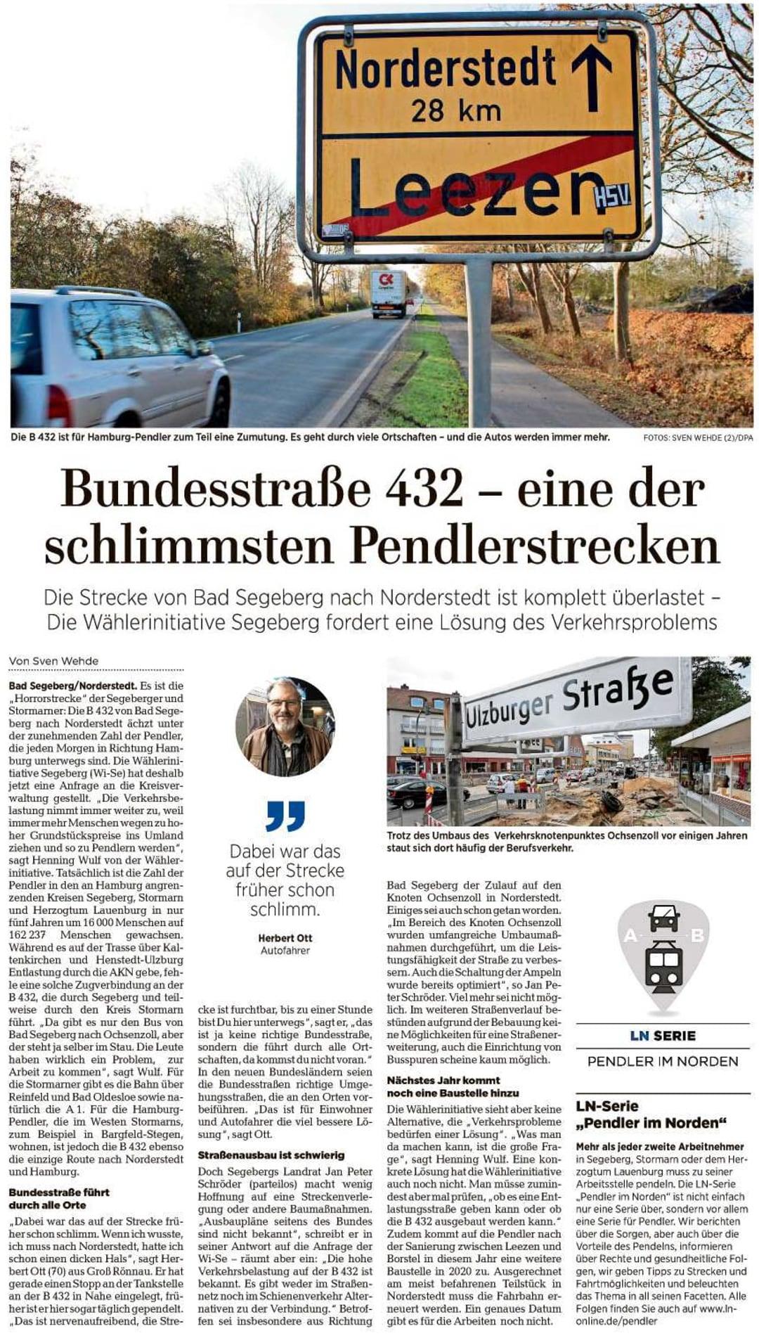 Verkehr - Lübecker Nachrichten 15.11.2019