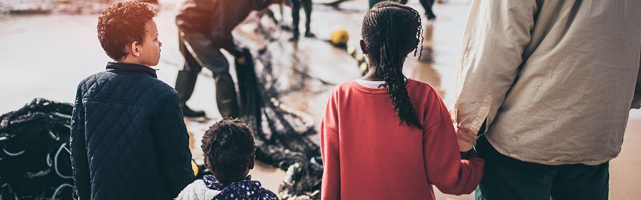 Aufnahme von Kinder aus den Flüchtlingslagern