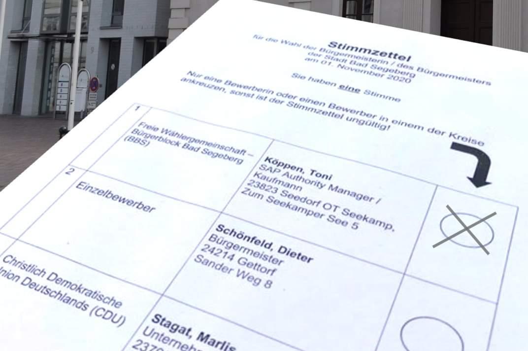 Bürgermeisterwahl in Bad Segeberg
